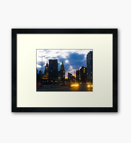 Liverpool Night Framed Print