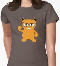 Monster with Glasses Women's Fitted T-Shirt