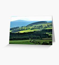 Driving through paradisical Aberdeenshire Greeting Card