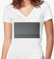 The Greyscale Collection no.6 Women's Fitted V-Neck T-Shirt
