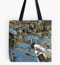 """Detail of Rodin's """"Gates Of Hell"""" Tote Bag"""