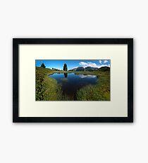 Hikers Paradise in Tirol Framed Print