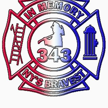 In Memory of NY 343 Style Patriotic by thatstickerguy