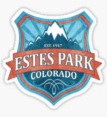 Estes Park Colorado teal grunge shield Sticker