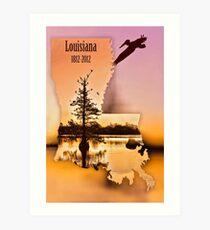 Louisiana Celebrates its Bicentennial in 2012 Art Print