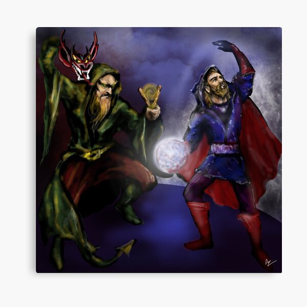 wizards at battle Canvas Print
