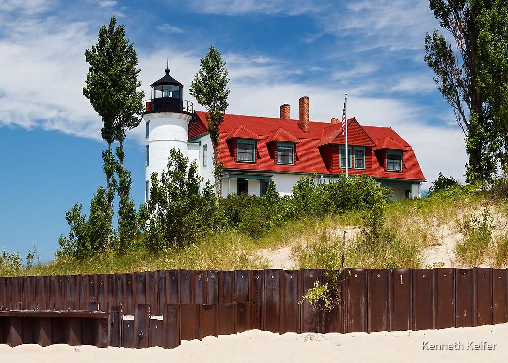 Pointe Betsie Lighthouse, Michigan by Kenneth Keifer