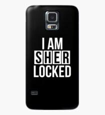 Sherlocked - white text Case/Skin for Samsung Galaxy