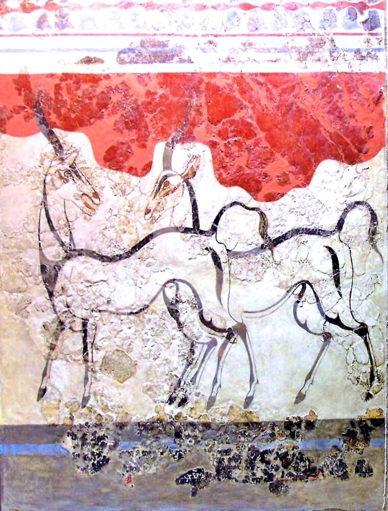 Minoan Antelope Fresco by W. Sheppard Baird