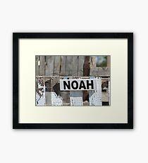 Noah's Shabby Chic Barn Sign Framed Print