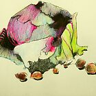 red cabbage and hazelnuts by donna malone