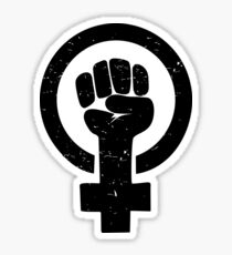 Feminist Raised Fist - Distressed Sticker