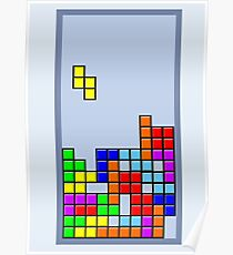 Old School Tetris Poster