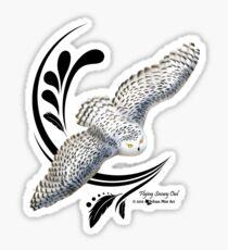 Flying Snowy Owl Sticker