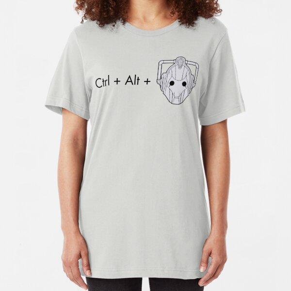 Ctrl + Alt + DELETE Slim Fit T-Shirt