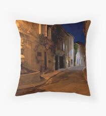 Dusk on a St Remy street Throw Pillow