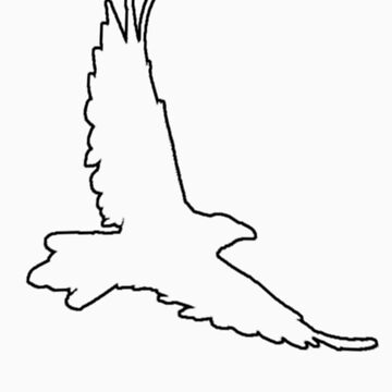 Raven outline T-shirt design by garyeason