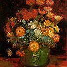 Vase with Zinnias Vincent van Gogh by naturematters