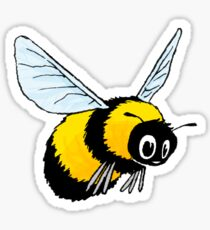 Happily Bumbling Bumble Bee Sticker