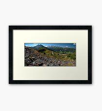 Gletscherblick Alm Framed Print