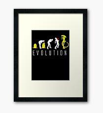 Evolution of Alien Funny Sci-Fi Framed Print