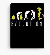 Evolution of Alien Funny Sci-Fi Canvas Print