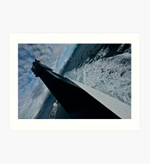 If you want to reach the Lofoten by ferry Bodo - Moskenes.  July 2012 . by Andy Brown Sugar. Art Print