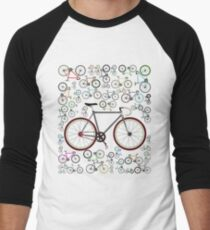 Love Fixie Road Bike Men's Baseball ¾ T-Shirt