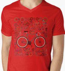 Love Fixie Road Bike Mens V-Neck T-Shirt