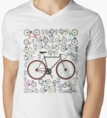 Love Fixie Road Bike Men's V-Neck T-Shirt