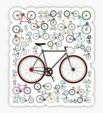 Love Fixie Road Bike Sticker