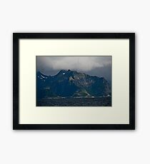 From the deck of the ferry you will have a perfect view of the Lofoten Islands. 2012 . by Andy Brown Sugar. Framed Print