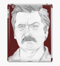 Ron Swanson Pencil Portrait iPad Case/Skin