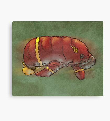 Flash manatee (Flashatee?) Canvas Print