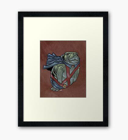Martian Manatee Hunter SALE! Framed Print