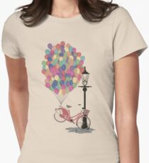 Love to Ride my Bike with Balloons even if it's not practical. Women's Fitted T-Shirt