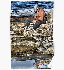 Relaxing - Newcastle Baths NSW Australia Poster