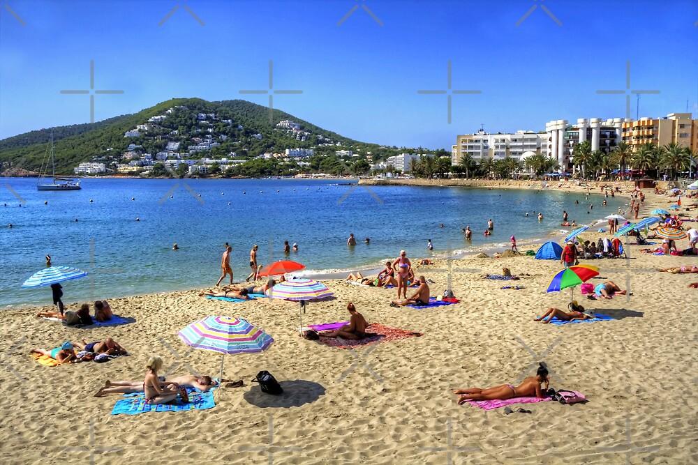 Santa Eulalia Beach and Bay by Tom Gomez