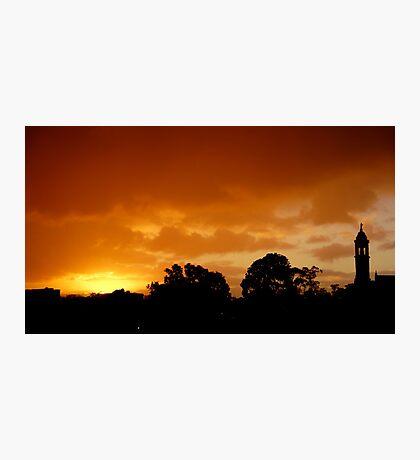 Melbourne's closing sky Photographic Print