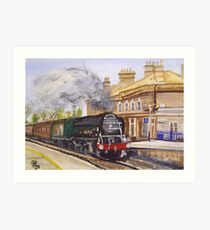 Tornado Through Chertsey Station Art Print