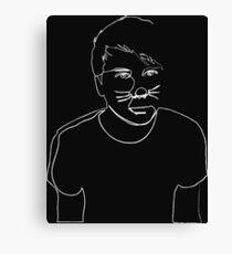 Dan Howell(White) Canvas Print
