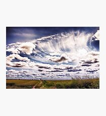 Sweeping clouds Photographic Print