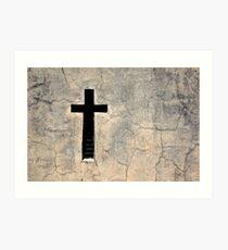 Cross, Recoleta Cemetery, Argentina Art Print