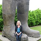 Wellies fit for a giant by Sue Gurney