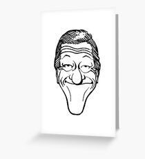 Vintage Dick Van Dyke Caricature Greeting Card