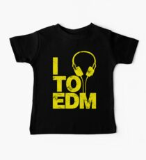 I Listen to EDM (yellow) Baby Tee