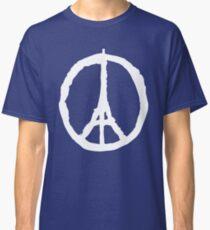 Peace for Paris - white - paix pour Paris - Pray Classic T-Shirt
