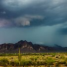 Superstition Mountain Thunderstorm by J. Michael Runyon