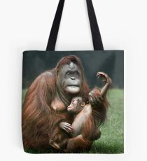 Orangutan Mother and Baby Tote Bag