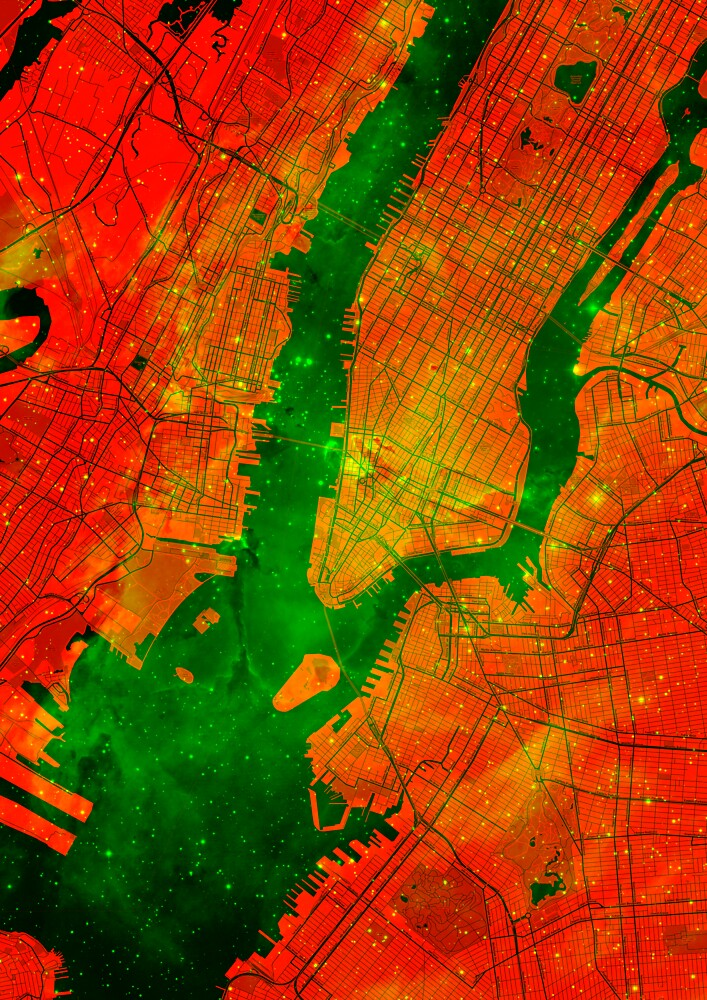 Red New York Eagle Nebula by Traut1